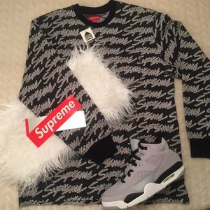 Supreme Signature Logo Sweater M